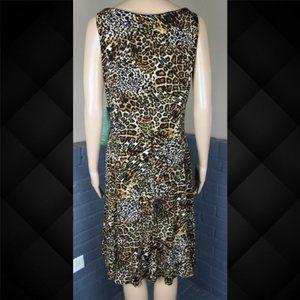 Jones Wear Dresses - Jones Wear Leopard Print Dress Size 8